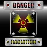Reeks symdols radioactief gevaar Royalty-vrije Stock Afbeelding