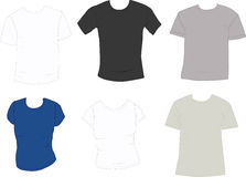 Reeks t-shirts royalty-vrije stock foto