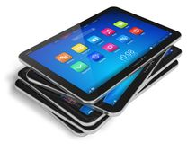 Reeks tabletcomputers Stock Afbeeldingen