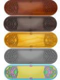 Reeks tabletten met Keltisch een patroon Royalty-vrije Stock Afbeeldingen