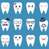 Reeks tanden Stock Afbeelding