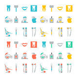 Reeks tandpictogrammen Royalty-vrije Stock Afbeelding