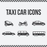 Reeks taxipictogrammen voor websites, presentaties Stock Afbeelding