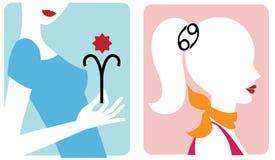 Reeks tekens van de horoscoopdierenriem Royalty-vrije Stock Afbeeldingen