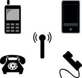 Reeks telefoons Royalty-vrije Stock Foto