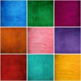 Reeks texturen van de pleistergipspleister in kleuren Stock Fotografie