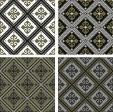 Reeks texturen van diverse gekleurde ruit Stock Afbeelding