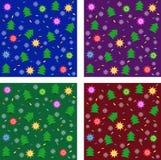 Reeks texturen van het Nieuwjaar Royalty-vrije Stock Afbeelding