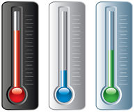 Reeks thermometers Royalty-vrije Stock Fotografie