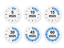 Reeks tijdpictogrammen Vector illustratie Stock Foto