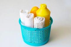 Reeks toebehoren voor baby, de producten van de babyzorg stock afbeeldingen