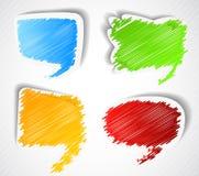 Reeks toespraakbellen vector illustratie