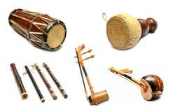 Reeks Traditionele Thaise muzikale instrumenten Royalty-vrije Stock Fotografie
