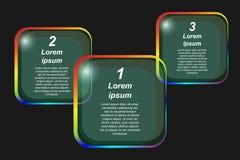 Reeks transparante banners voor tekst Het Malplaatje van Infographic Royalty-vrije Stock Afbeeldingen