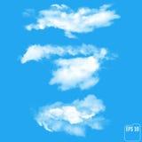 Reeks transparante verschillende wolken Vector illustratie vector illustratie