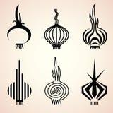 Reeks uipictogrammen in verschillende grafische stijlen Stock Afbeelding