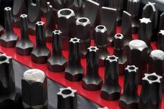 Reeks uiteinden voor schroevedraaiers Royalty-vrije Stock Afbeelding