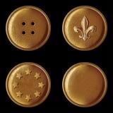 Reeks uitstekende bronsknopen vector illustratie