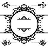 Reeks uitstekende decoratieve ontwerpelementen op wit Stock Fotografie