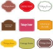 Reeks uitstekende etiketten Stock Foto