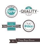 Reeks uitstekende etiketten. Royalty-vrije Stock Afbeelding