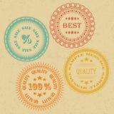 Reeks Uitstekende Etiketten Stock Foto's