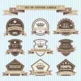 Reeks uitstekende etiketten Royalty-vrije Stock Foto's