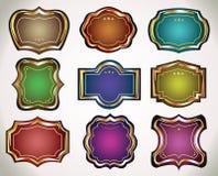 Reeks uitstekende etiketten en stickers aan giften. Royalty-vrije Stock Afbeelding
