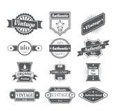 Reeks uitstekende etiketten in wit Stock Afbeeldingen