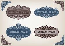 Reeks uitstekende frames Stock Afbeelding