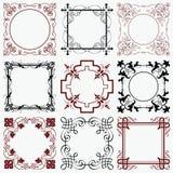 Reeks uitstekende frames Royalty-vrije Stock Foto's