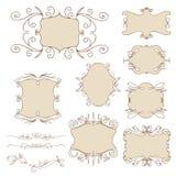 Reeks uitstekende frames Royalty-vrije Stock Afbeeldingen