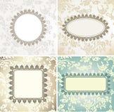 Reeks uitstekende frames voor naadloze achtergrond Stock Foto's