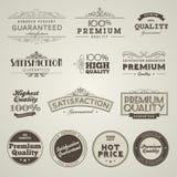Reeks uitstekende gestileerde etiketten van de premiekwaliteit Royalty-vrije Stock Afbeelding