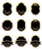 Reeks uitstekende gouden etiketten Stock Afbeelding