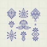 Reeks Uitstekende Grafische Elementen voor Ontwerp Lijn Art Design voor Uitnodigingen, Affiches Lineair Element Geometrische Stij royalty-vrije illustratie