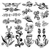 Reeks uitstekende kalligrafische ontwerpelementen Stock Foto's