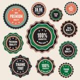 Reeks uitstekende kentekens en etiketten Stock Fotografie