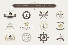 Reeks uitstekende kentekens en etiketten Royalty-vrije Stock Fotografie