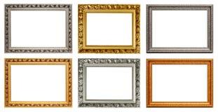 Reeks uitstekende kunstframes Stock Afbeelding
