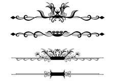 Reeks uitstekende ornamenten vector illustratie