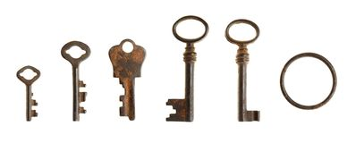 Reeks uitstekende sleutels Stock Foto's