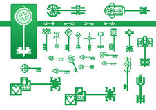 Reeks uitstekende sleutels stock illustratie