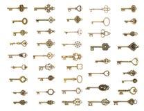Reeks uitstekende sleutels Stock Afbeeldingen