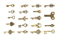Reeks uitstekende sleutels Royalty-vrije Stock Foto