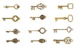 Reeks uitstekende sleutels Stock Foto