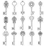 Reeks uitstekende sleutels Uitstekend zeer belangrijk vectorpictogram Zeer belangrijke symboolillustratie vector illustratie