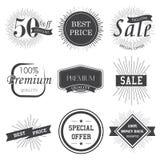 Reeks uitstekende stickers van de premiekwaliteit Stock Afbeeldingen