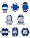 Reeks uitstekende zilveren etiketten Royalty-vrije Stock Afbeelding