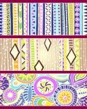 Reeks unieke naadloze patroon en grenzen. vector illustratie